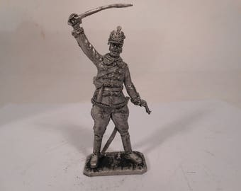 Tin, 54mm,  1WW, Ober-Lieutenant of the Austro-Hungarian Gusar Regiment, 1914