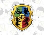 Sticker - Wizard School Crest - Harry Potter Inspired Sticker