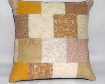 Quilted patchwork cushion cover