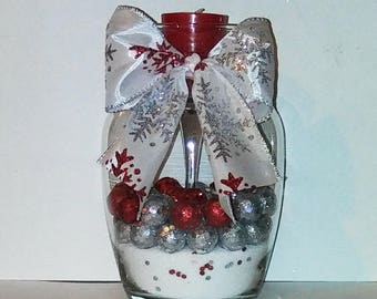 "Holiday Candle Decoration #7 | 7""h x 5""w (large)"