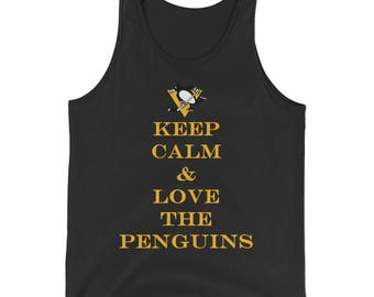 Keep Calm And Love The Penguins Pittsburgh Penguins Hockey Mens Tank Top