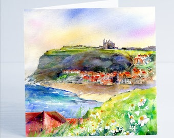 Whitby North Yorkshire - Greeting Card by Sheila Gill
