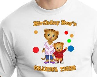 Daniel Tiger , Iron On Transfer , Daniel Tiger Grandpa , DIY Birthday Shirt , Transparent Background , Instant Download , Digital Files