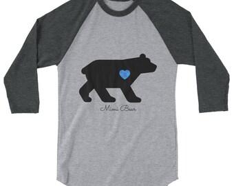 Mimi bear shirt etsy mimi bear custom t shirt on 34 sleeve raglan shirt publicscrutiny Image collections