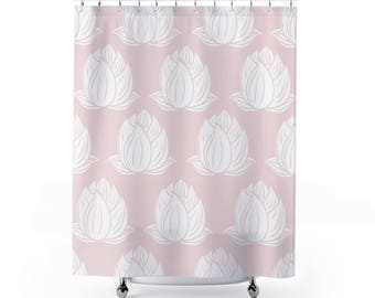 Pink shower curtain | Etsy