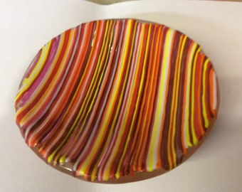 Colourful round dish