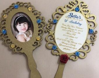 Enchanted mirror invitations