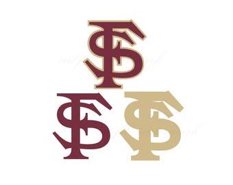 Florida Cut Files SVG & Studio 3 File for Silhouette Cricut Cutouts Decals SVGs Cutout Logos Logo Decal Baseball Seminoles State FSU