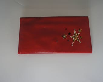 Vintage Red Leather Wallet, Rolfs Never Used