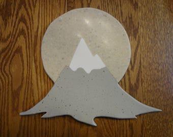 Mountain sunset cutting board