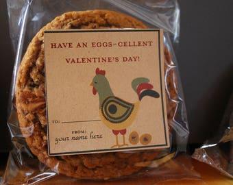 Eggs-cellent Valentine Sticker