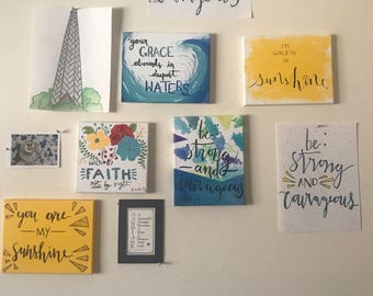 Custom Written and Painted Canvases