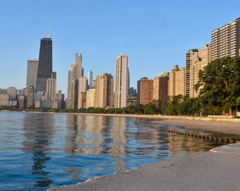Chicago Skyline; a view from North Avenue Beach