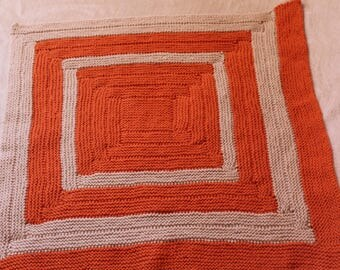 Hand-Knit Geometric Doll Blanket