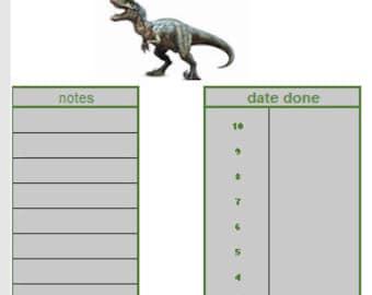 Interactive reward chart - Dinosaurs