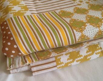 Vintage cotton single flat sheets