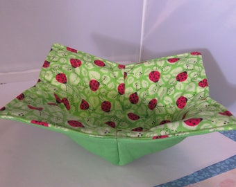 Red Lady Bug Reversible Microwave Bowl Cozy