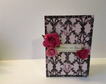 Handmade Sending My Love Card