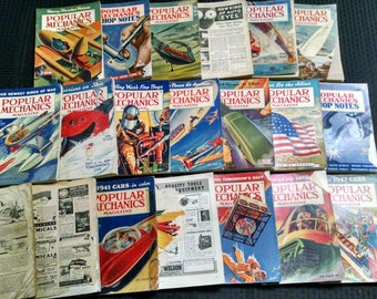 1940's Popular Mechanics Magazines