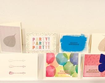 Handmade box of greeting cards - birthday