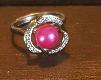 Akoya Pink Pearl Ring