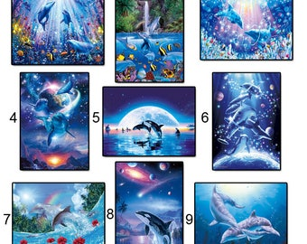 5d diamond embroidery kits cross-stitch Ocean World home decor diamond painting mosaic diy pcitures paint needlework