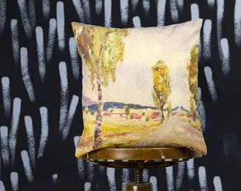 "Cushion with Painting - The Way, 16"" / 40  cm size - Limited Edition of 100"