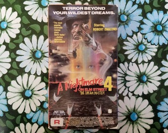 A Nightmare on Elm Street 4 The Dream Master VHS 1988