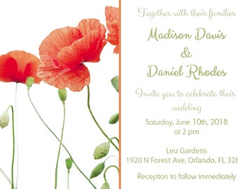 Poppies Wedding Invitation