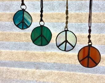 Peace sign suncatchers