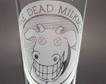 The Dead Milkmen - Etched Glass - Pint Glass - Cup - Punk Rock - Beer - Glass - Punk Rock Girl - Big Lizard
