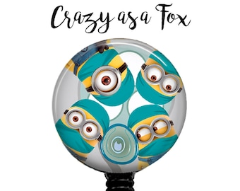 Minions Ready to Operate Retractable Badge Holder, Badge Reel, Lanyard, Stethoscope ID Tag, Docotor, Surgeon, Scrub, RN anesthesiologist, OR