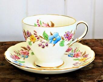 Tea Cup Saucer and EB Foley Bone China England