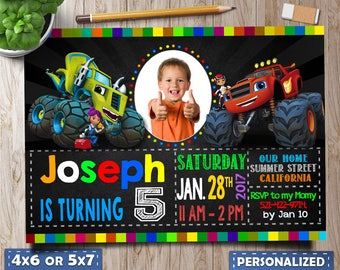 blaze and the monster machines invitations, blaze and the monster machines birthday, blaze and the monster machines favors, blaze birthday