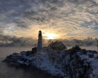 Portland head light. Fort Williams, Maine