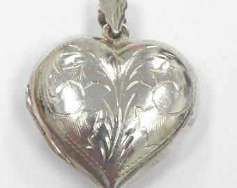 Old Sterling Silver 925 Pendant Heart Shape 5.4 Grams