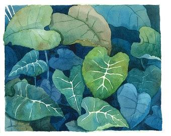 Leaves Watercolor Original Painting A02
