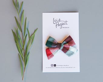 Jewel Toned Plaid Bow