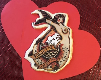 Sailor Jerry Tattoo Pinup Cookies