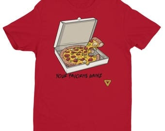 Pizza Gainz Premium Gym T-Shirt - Red