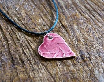 Ceramic Choker with Heart