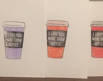 I love you more than coffee (set of 3)