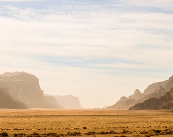 Desert Mountains in Jordan Photo Print