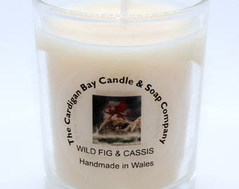 Luxury Soy Wax votive Candle Wild Fig and Cassis