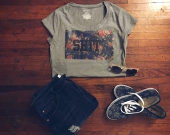 Cute Floral Sh*t. T-Shirt