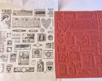 Unmounted Rubberstamp perfect for Journaling and Collage NEW