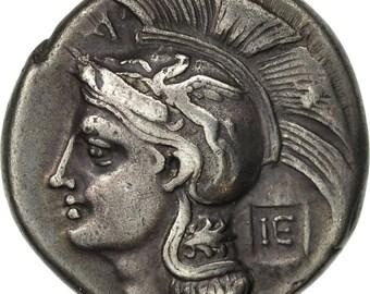 lucania velia nomos or didrachm ef(40-45) silver hn italy 1318