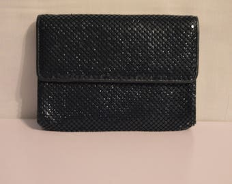 Vintage Whiting and Davis Metal Mesh Purse in Navy