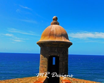 Old San Juan Garita, Puerto Rico Photography, Art Prints, Home Decor, Wall Art