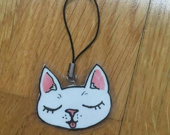 Laminated kitty charm